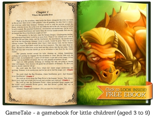 GameTale - a gamebook for children (aged 3 to 9)